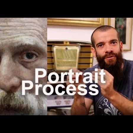 Portrait Painting Process. Cesar Santos vlog 012