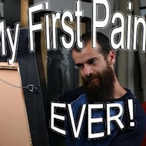 First Painting Ever. Cesar Santos vlog 022