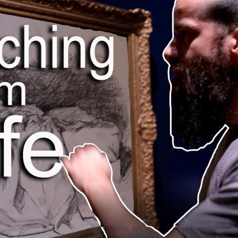 Sketching From Life While Crossing the USA by Train. Cesar Santos vlog 067