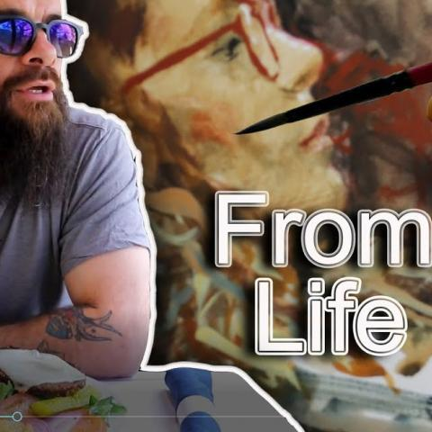 5 Sketches From Life While Crossing the United States. Cesar Santos vlog 062