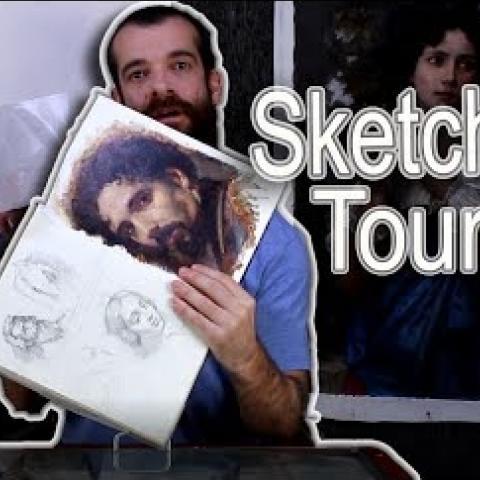 Sketchbook Tour 004. Cesar Santos